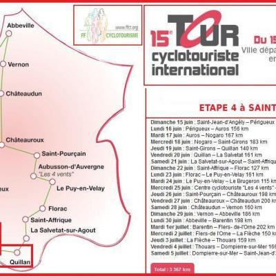 Tour International cyclotouriste 2014