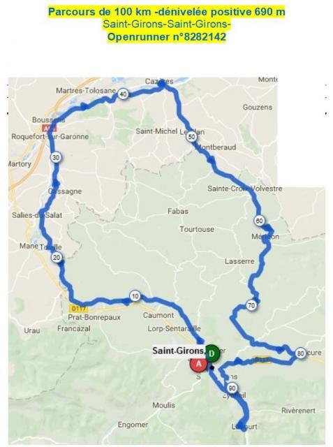 Audax 100km mars